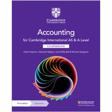 Cambridge International AS & A Level Accounting Coursebook with Digital Access (2 Years) - ISBN 9781108902922