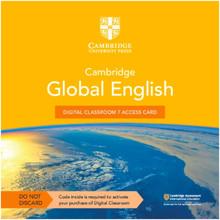 Cambridge Global English Digital Classroom 7 Access Card (1 Year Site Licence) - ISBN 9781108925792