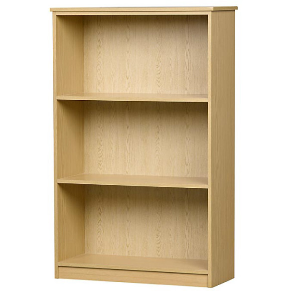 Melamine Bookcase Units in Various Veneer Colours and Sizes with Adjustable  Shelves