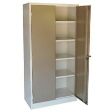 2 Door Steel Stationery Cabinet with 4 Adjustable Shelves (Optional Security Bar)