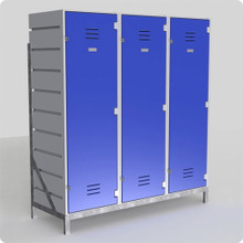Freestanding Frame for Sports Lockers - 2, 3, 4 and 5 Wide