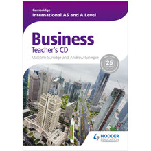 Cambridge International AS and A Level Business Teacher's CD - ISBN 9781444181418