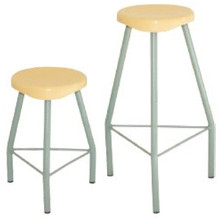 Economy LAB STOOLS with Plastic Seat and 2 Height Options