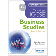 Cambridge IGCSE Business Studies Teacher's CD 4th edition - ISBN 9781444176520