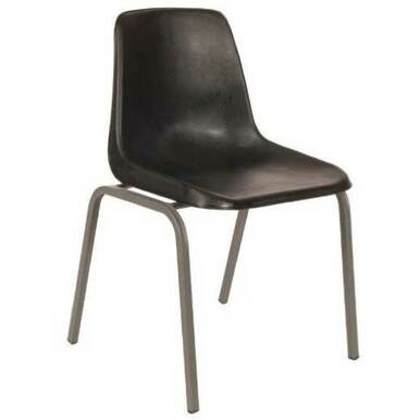 RECYCLED PLASTIC Polyshell Chair with Stackable Steel Frame in Various Sizes