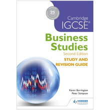 Cambridge IGCSE Business Studies Study and Revision Guide - ISBN 9781471856556