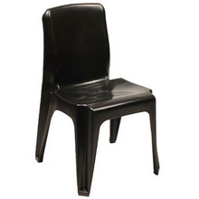 FLEXI - BLACK Recycled Plastic,Heavy Duty and Fully Moulded Stackable Plastic Chair