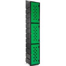 3-Tier ECONO Locker with Slanted Top & Ventilation Doors