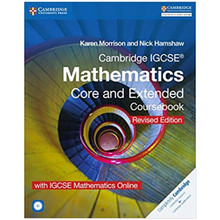 IGCSE Mathematics Core and Extended Coursebook, CD-ROM & Online Revised Edition - ISBN 9781316629703