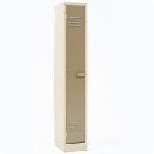 Single Compartment Steel Locker in Ivory/Karoo Colour