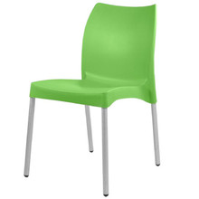 The SMART-102 Stackable Plastic Chair with Anodised Aluminium Legs