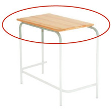 Replacement School Desk Top - Saligna Hardwood