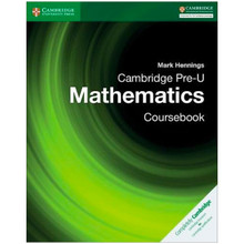 Cambridge Pre-U Mathematics Coursebook - ISBN 9781316635759