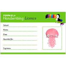 Penpals for Handwriting Pen Licence Cards (pack of 200) - ISBN 9781845657949