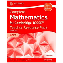 Complete Mathematics for Cambridge IGCSE Teacher Resource Pack (Core) 2018 Edition - ISBN 9780198427995