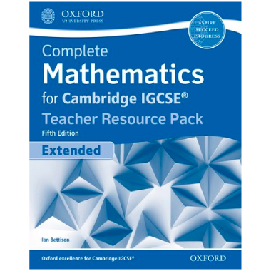 Complete Mathematics for Cambridge IGCSE Teacher Resource Pack (Extended)  5th Edition 2018