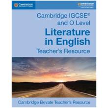 Cambridge IGCSE & O Level Literature in English Teacher's Resource Elevate Edition - ISBN 9781108439947