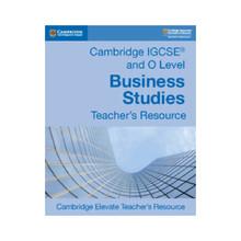 IGCSE and O Level Business Studies Digital Teacher's Resource Elevate - ISBN 9781108441728