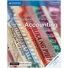 Cambridge IGCSE and O Level Accounting Coursebook with Elevate Enhanced Edition (2 Years) - ISBN 9781108339179