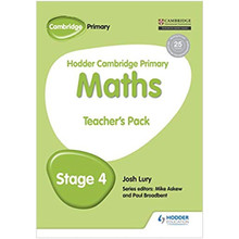 Hodder Cambridge Primary Maths Teacher's Pack 4 - ISBN 9781471884504