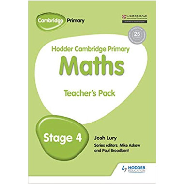 Hodder Cambridge Primary Maths Teacher's Pack 4 - ISBN 9781471884504