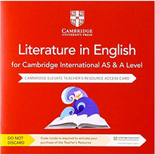Cambridge International AS & A Level Literature in English Cambridge Elevate Teacher's Resource Access Card - ISBN 9781108457361
