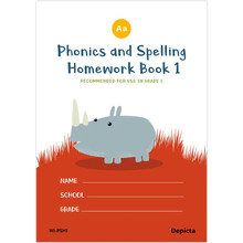 Phonics & Spelling Homework Book Grade 1 - ISBN 9781776082049