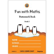 Fun with Maths Homework Book Grade 1 - ISBN 9781776082544