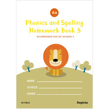 Phonics & Spelling Homework Book 3 - ISBN 9781770321977