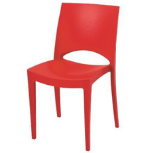 Stella Multi Purpose Fully Moulded Stackable Plastic Chairs in RED