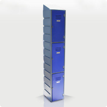 3 Tier Plastic Locker with Slanted Top