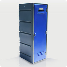 Single Plastic CLOTHES Locker with Flat Top Option