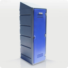 Single Plastic CLOTHES Locker with Slanted Top Option