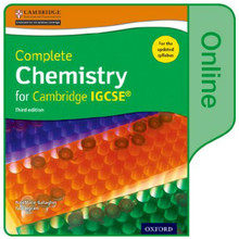 Complete Chemistry for Cambridge IGCSE Online Student Book - ISBN 9780198310341