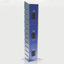 3 Tier Mesh Plastic Locker with Slanted Top