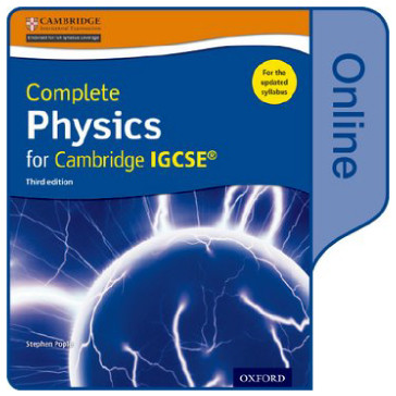 Complete Physics Cambridge IGCSE Online Student Book Third Edition - ISBN 9780198310358