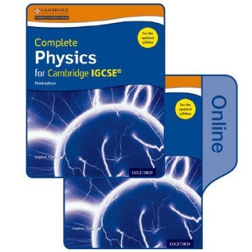 Complete Physics Cambridge IGCSE Print & Online Student Book Pack 3rd Edition- ISBN 9780198417675