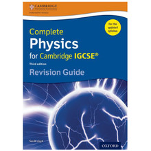 Complete Physics for Cambridge IGCSE Revision Guide Third Edition - ISBN 9780198308744
