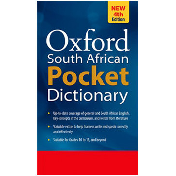 Oxford South African Pocket Dictionary 4th Edition (Hardback) - ISBN 9780199045037