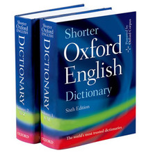 Shorter Oxford English Dictionary 6th Edition (Hardback) - ISBN 9780199206872