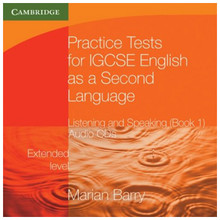Practise Tests for IGCSE English 2nd Language Listening and Speaking Extended Level Book 1 Audio CD's - ISBN 9780521140546