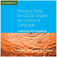 Practice Tests for IGCSE English 2nd Language Listening and Speaking Extended Level Book 2 Audio CD's - ISBN 9780521186339