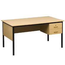 Teachers Desk in Oak Melamine