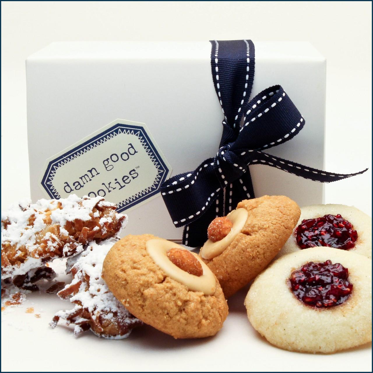 6 piece damn good cookie favor box