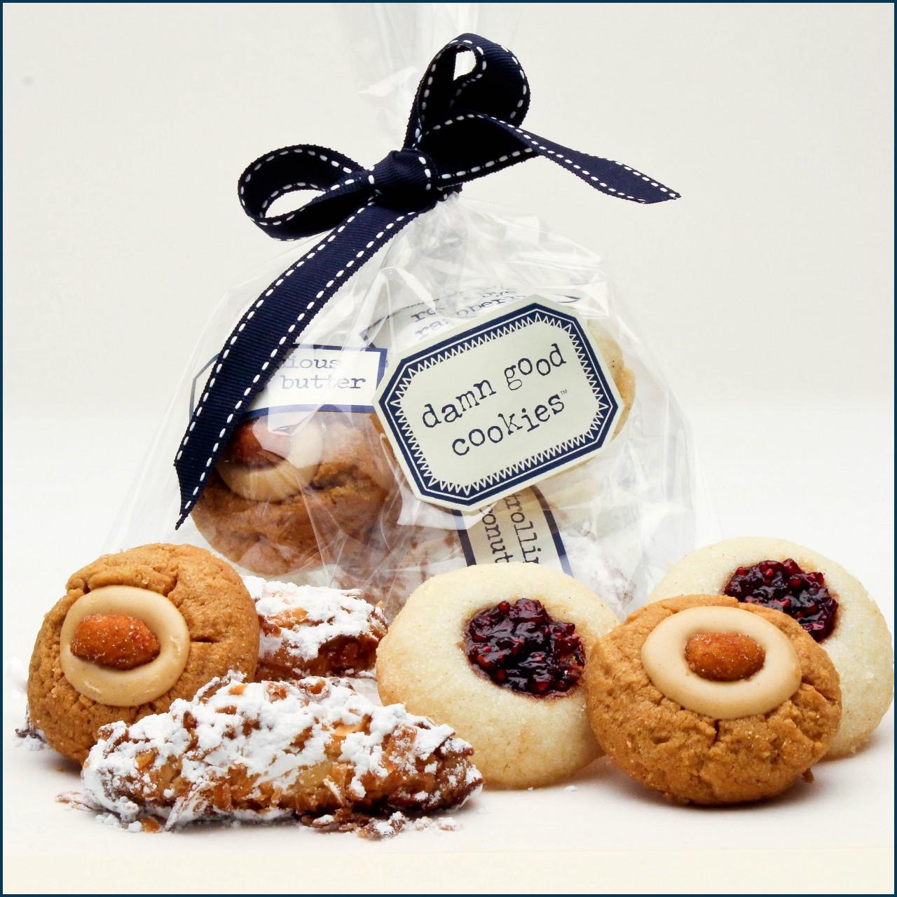 6 piece damn good cookie favor bag