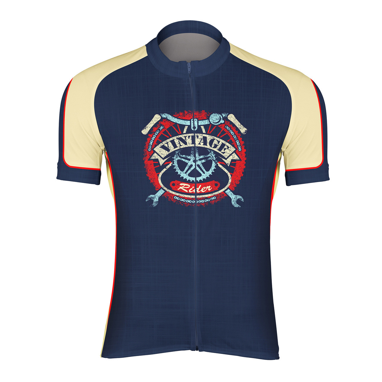 dadc1a9df892f Men s Cycling Jersey Vintage Rider Peak 1 Sports