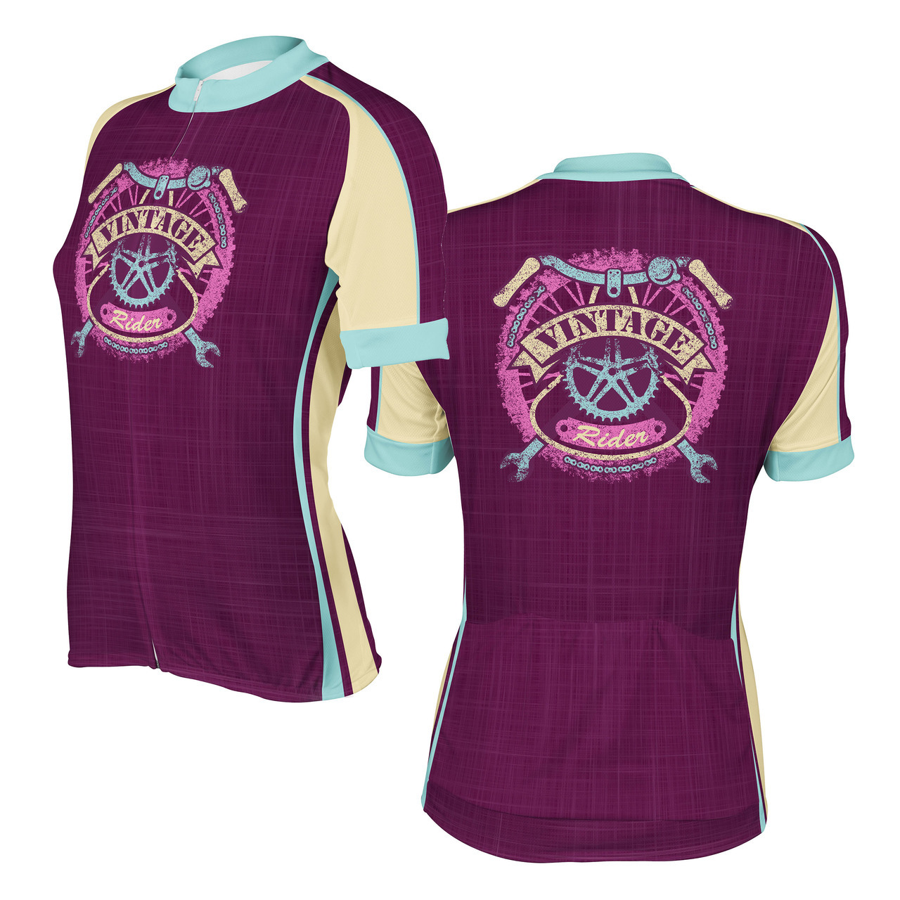 f3edf932e375a Women s Cycling Jersey Vintage Rider Peak 1 Sports