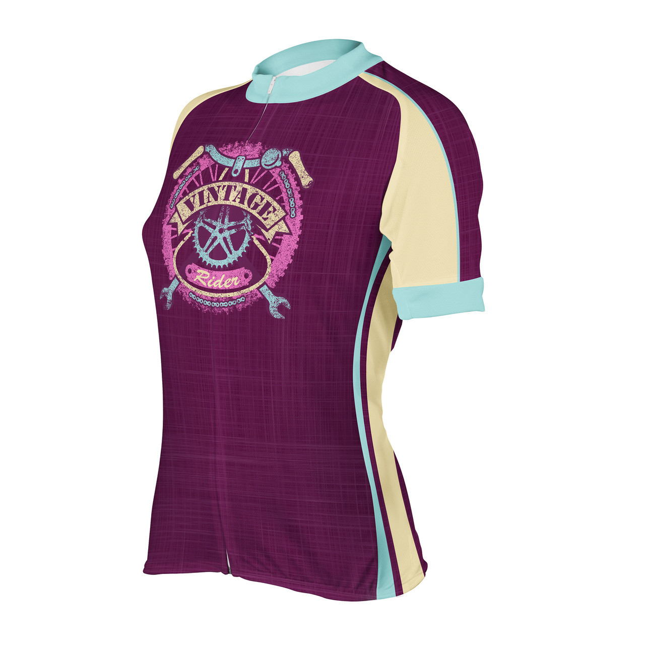 Women s Cycling Jersey Vintage Rider Peak 1 Sports f001eaf70