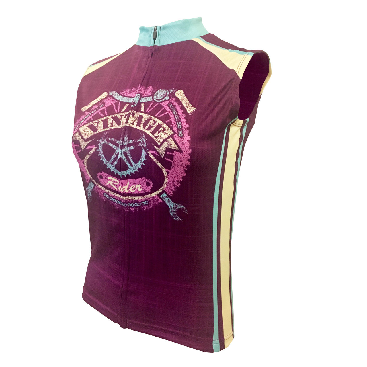 0315cbefb2bc4 VINTAGE RIDER WOMEN S SLEEVELESS CYCLING JERSEY. Your Price   39.99 (You  save  20.00). Image 1
