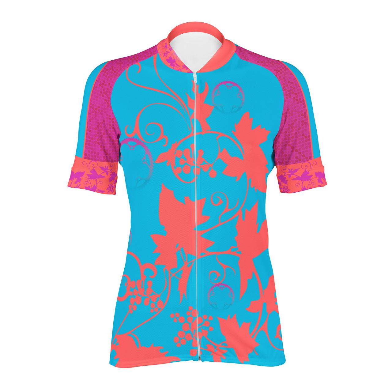 5a62e5a1c4350 Women s Cycling Jersey Vineyard Peak 1 Sports